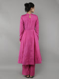 Pink Cotton Silk Anarkali with Palazzo