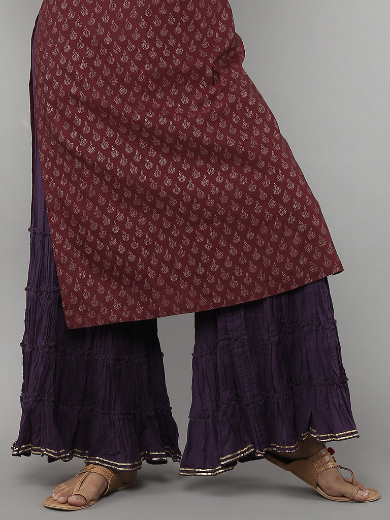 Purple Cambric Sharara