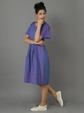 Purple Handwoven Handloom Cotton Dress