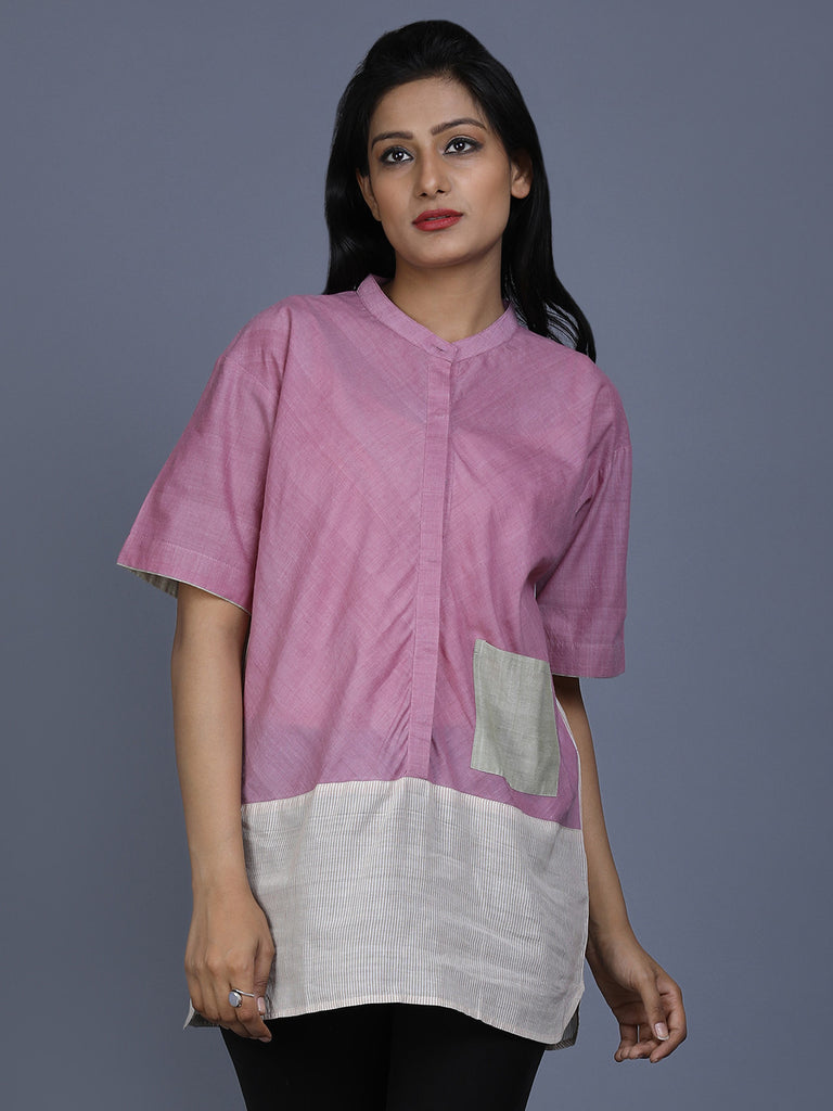 Mauve Mangalgiri Cotton Top