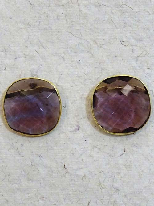 Purple Cut Stone Large Top