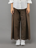 Caramel Khadi Cotton Wide Leg Trousers