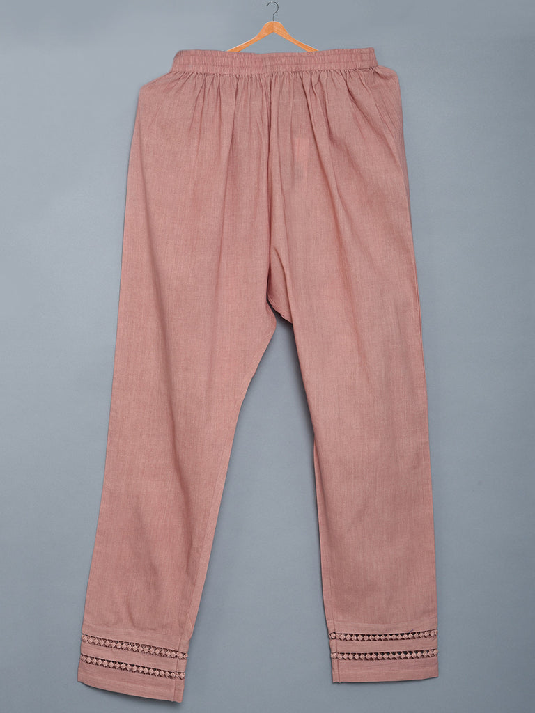 Rose Pink Mulmul Cotton Pants