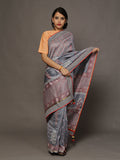 Samovar Grey Chanderi Cotton Silk Saree