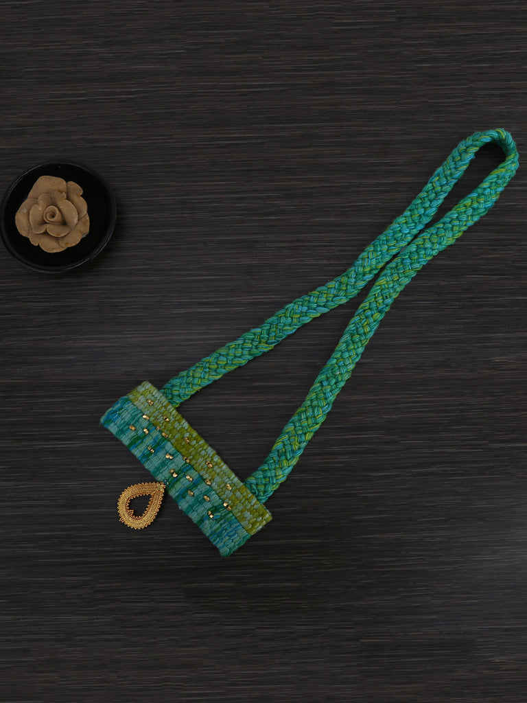 Sea Green Hand Weaved Boho Necklace
