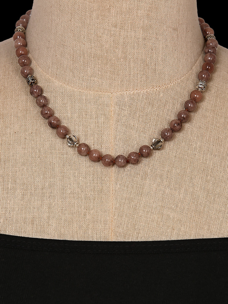 Brown Agate Single Line Necklace