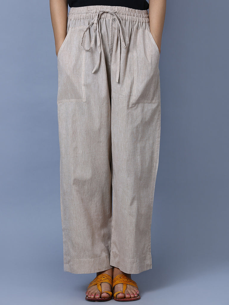 Grey Mangalgiri Cotton Trousers