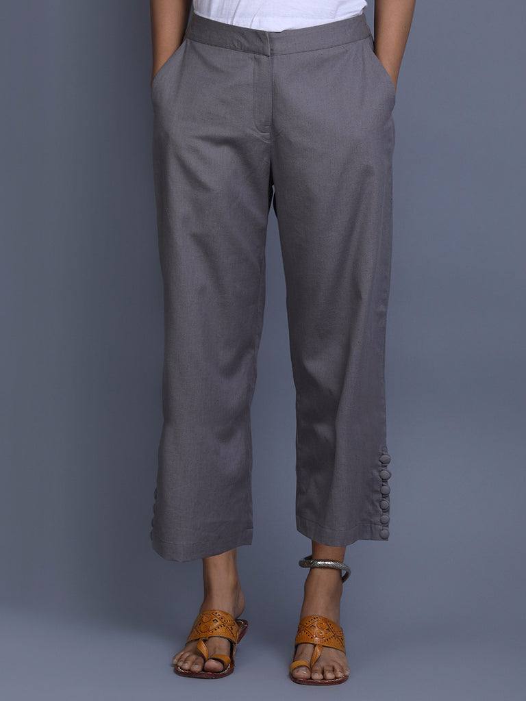 Steel Grey Khadi Pants
