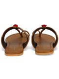 Tan Handcrafted Leatherette Kolhapuris