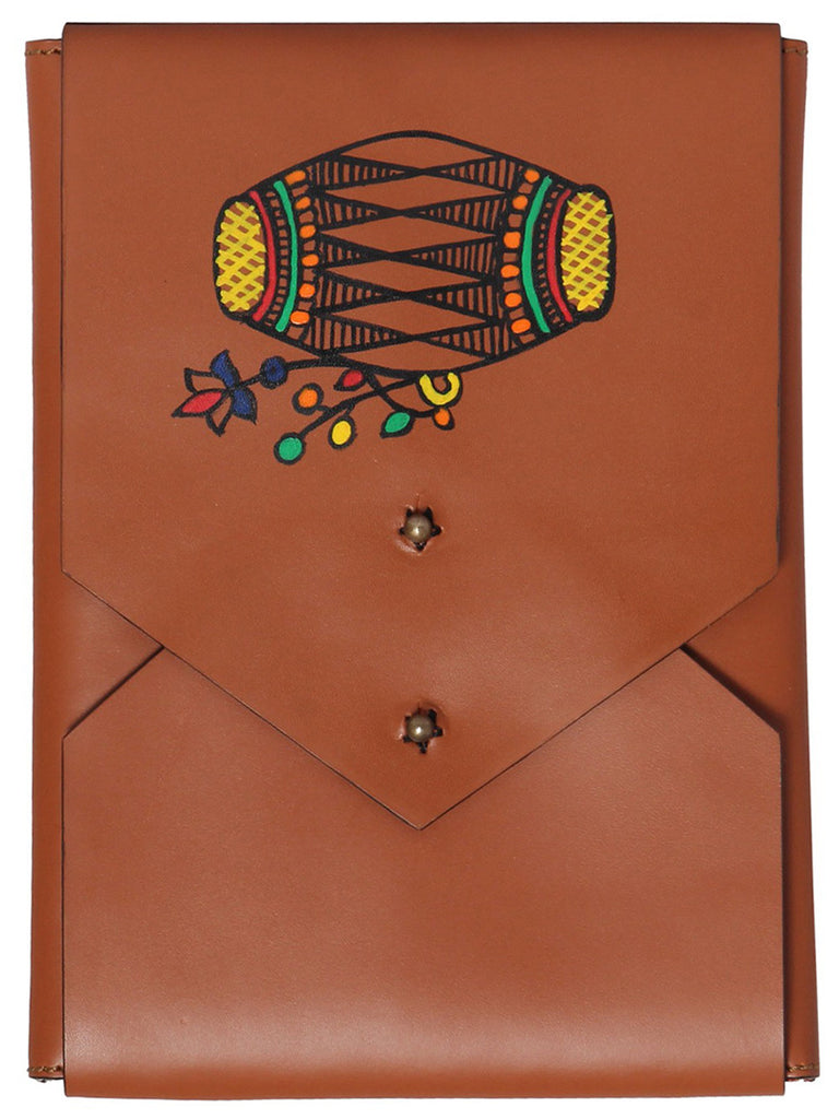 Tan Leather Dhol iPad Mini Sleeve