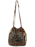Tomato Red Grey KIlim Bucket Bag