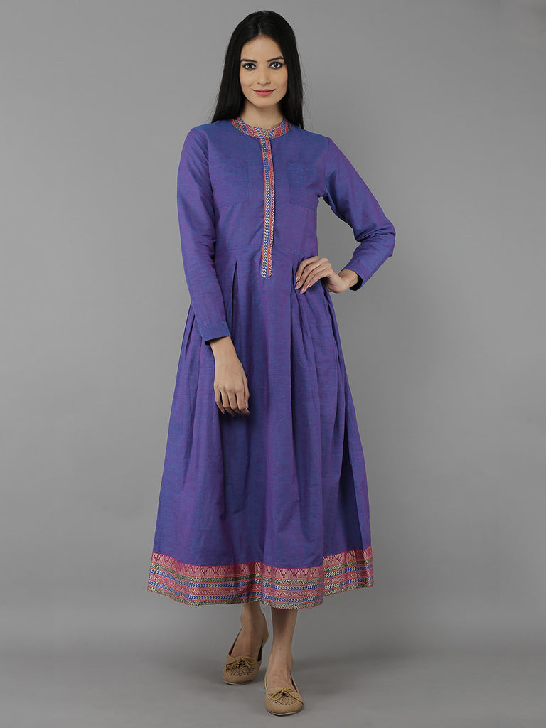 Violet Mangalgiri Cotton Pleated Dress