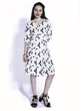 White Cotton Adele Dress