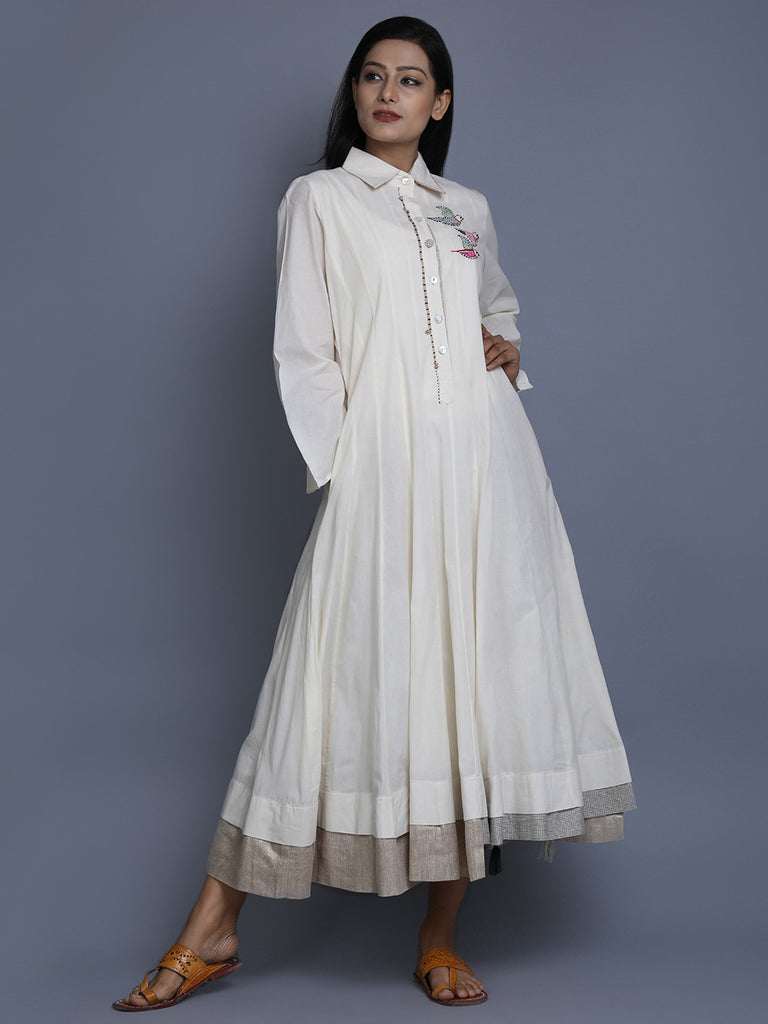White Cotton Anarkalil Dress