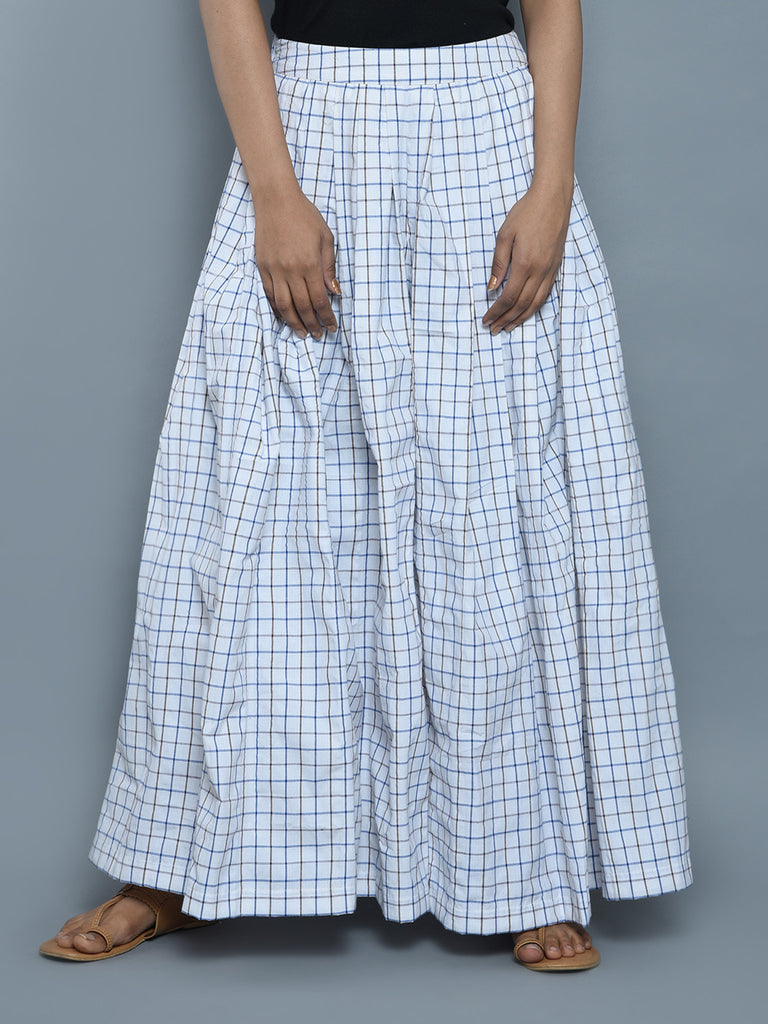 White Cotton Wide Leg Pants