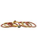 Yellow Orange Golden Gota Bangles