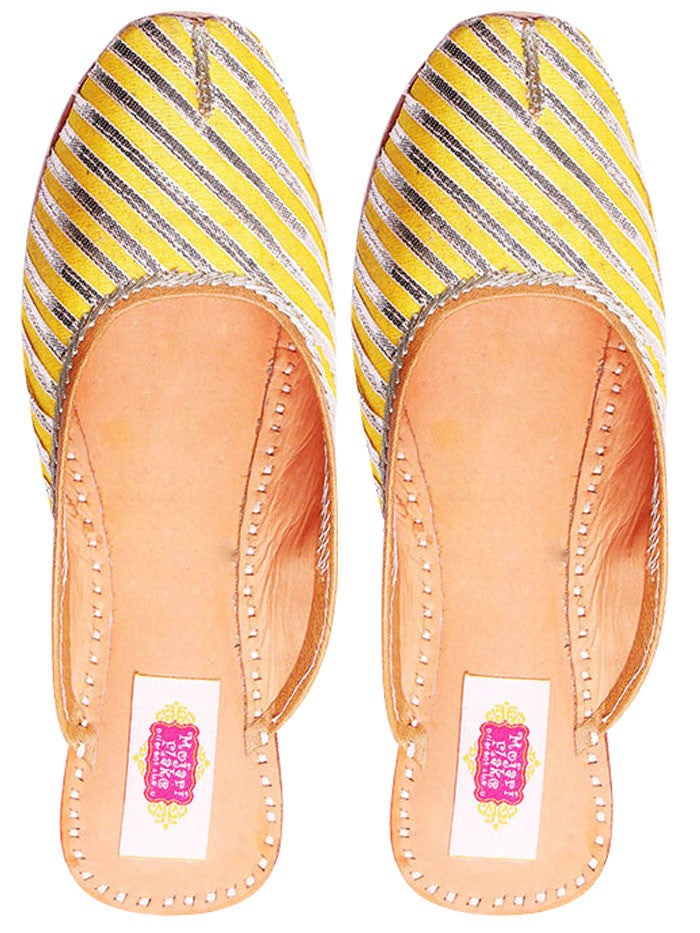 Yellow Leather Mojari