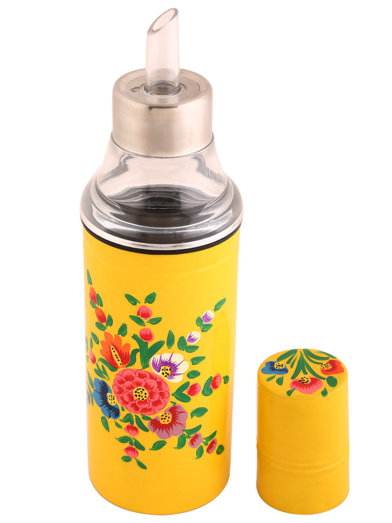 Yellow Multi Color Hand Painted Oil Dispenser