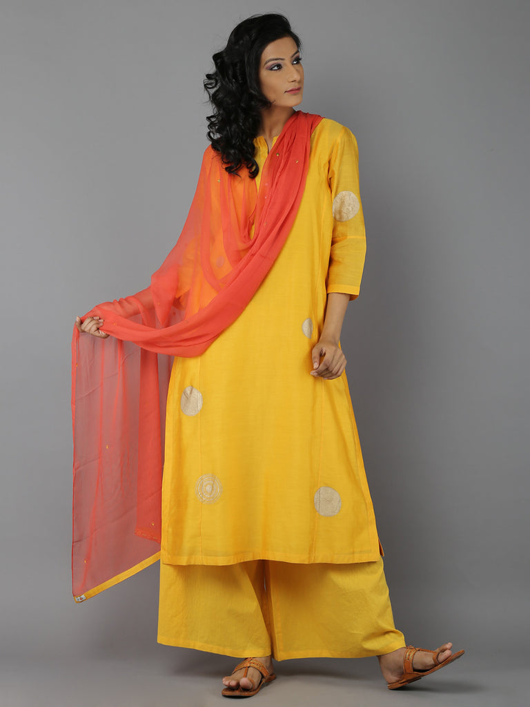 Yellow Orange Suit - Set of 3