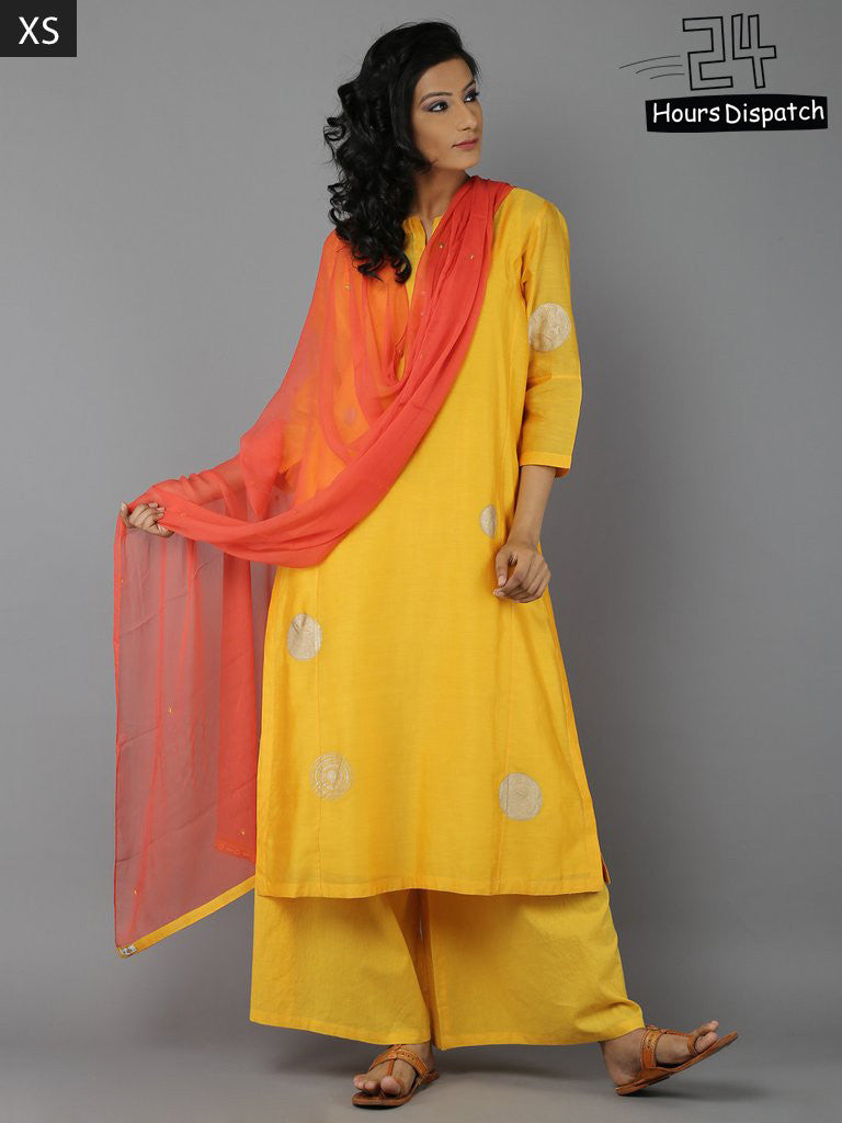 Yellow Orange Suit - Set of 4