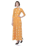 Yellow Tie and Dye Cotton Maxi