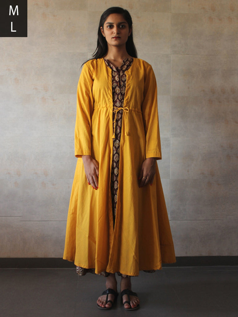 Yellow Cotton Mul Cape