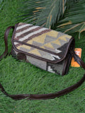Grey Brown Kilim Clutch