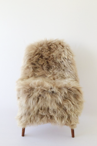 Nordic Wolf Large Sheepskin Throw NW39 Sheepskin - NordicWolf