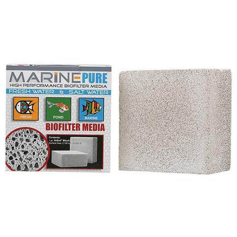 Marine Pure : High performance Biofilter media |  8x8x4in