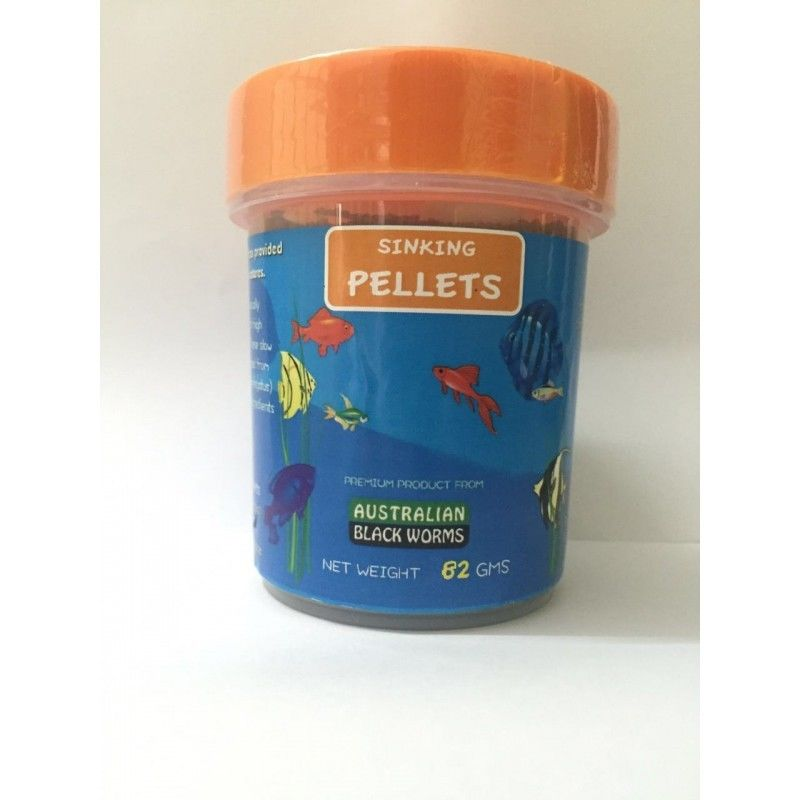 AUSTRALIAN BLACK WORMS SINKING PELLETS 82Gms