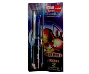 CELLO - Iron Man Fountain Pen (Pack of 2) - {variant_title}} - pen - SSM - www.tcgonlinestore.com - www.tcgonlinestore.com - 1