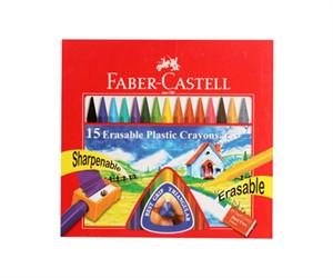 FABER-CASTELL - 15 ERASABLE CRAYONS - {variant_title}} - pen - SSM - www.tcgonlinestore.com - www.tcgonlinestore.com