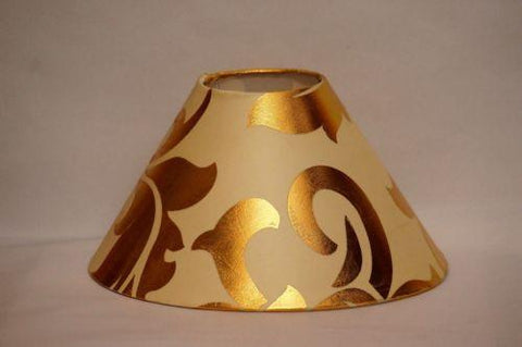 Round Designer Lamp Shade 10 inch for Table/ Floor Lamp - Golden Design on Off White with free home delivery - {variant_title}} - lamp and shade - esteem - www.tcgonlinestore.com - www.tcgonlinestore.com - 1