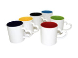 Beautiful Personalized Inner Colour heart white handle Photo Mug (Microwave Resistant)