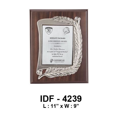 "Wooden and Metal Trophy IDF 4239 / L: 11"" x W: 9"" - {variant_title}} - corporate gifts - idf - www.tcgonlinestore.com - www.tcgonlinestore.com"
