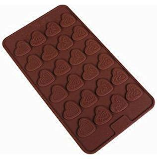 JoyGlobal Silicone Bakeware Mould for Chocolate and Garnishing Chocolate Mould Different Heart Designing Bakeware Creative, Transparent