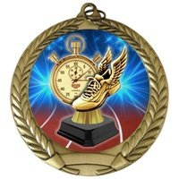 Engraved Track Trophy Medals Award 3-Pack