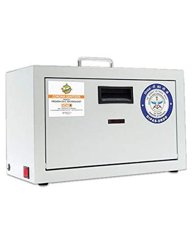 Corona Sanitizer - UV-C Box, Portable Virus Disinfector, Completely Safe, Certified by DRDO Govt of India.