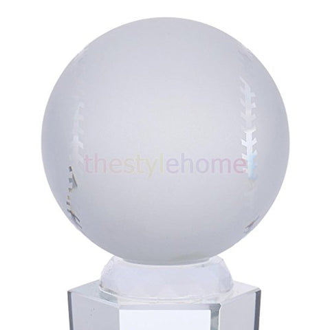 ELECTROPRIME Baseball Trophy Award Optical Crystal Glass 24cm/9.44inch Height