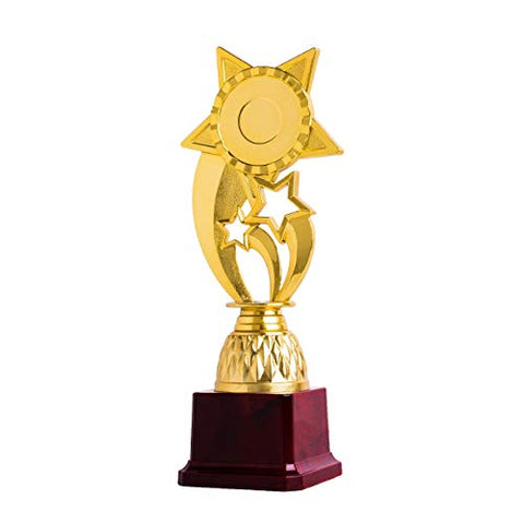Bajaj Impex BI1006 Fiber Trophy Awards(Golden & Maroon)