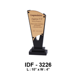 "Wooden and Metal Trophies IDF 3226 / L: 10"" x W: 4"" - {variant_title}} - corporate gifts - idf - www.tcgonlinestore.com - www.tcgonlinestore.com"