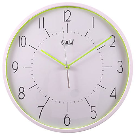 Ajanta Fancy Wall Clock(Green,Silent Movement)
