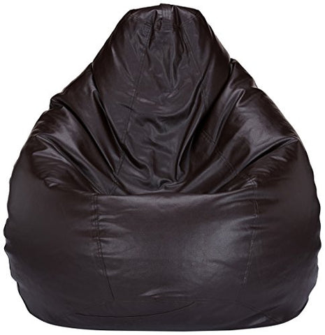 Amazon Brand - Solimo XXL Bean Bag Cover Without Beans (Brown)