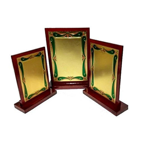 Z S Novelties Brown Wooden Supirior Quality Trophy_ZS 250 - Set of 3