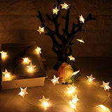 AtneP 20 Star Shape String Lights for Home Decoration Party Festival Diwali Christmas (Warm White Color)