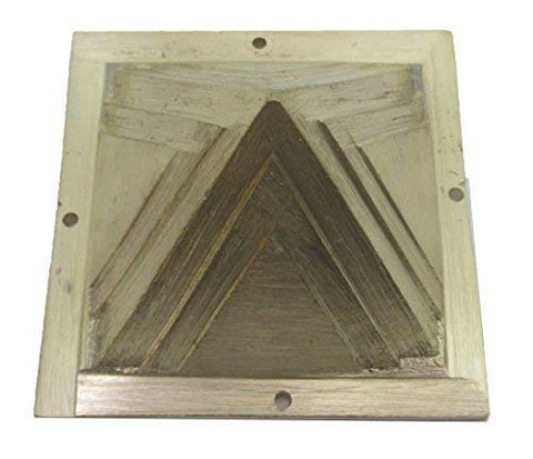 Plusvalue Brass Vastu Pyramid for Home & Office Feng Shui Products North-West Vaastu Dosh Nivaran (Size-2.5-inches)