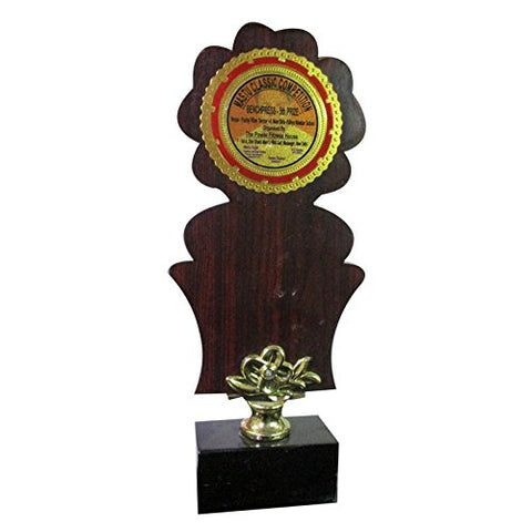 HT Silver Metal with Wood material Momentos Trophy for colleges/ Corporates