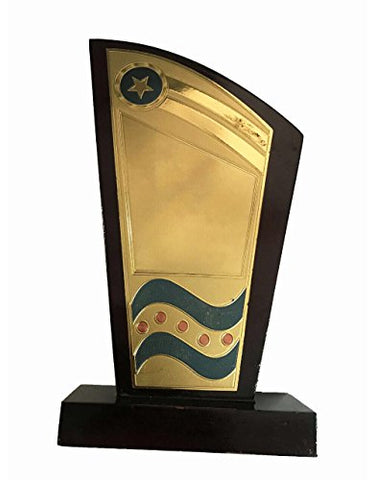 Shivam International wooden Superior Quality Trophy,7""