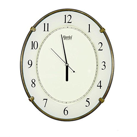 Ajanta Wall Clock 707 Ivory with Round Dail Shape Size(34X29.5)cm For Home & Office