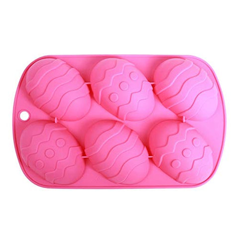 Easter Egg Shaped Cake Baking Silicone Mold, for Chocolate, Pastries, Cakes, Muffins, Candy, Ice Cubes, Soap and More.